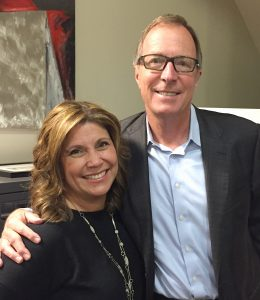 Maricela Rios-Faust, CEO of Human Options, and Steve Churm, chief communications officer of FivePoint Holdings