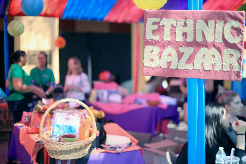 The Ethnic Bazaar at the fair. — Photo by Sara Hall ©