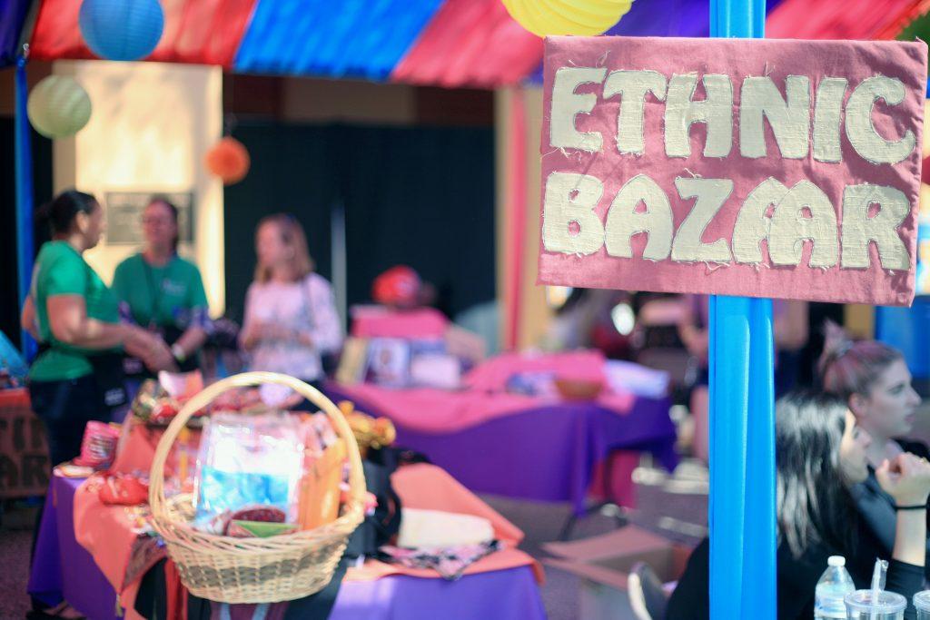 The Ethnic Bazaar at the fair. — Photo by Sara Hall ©