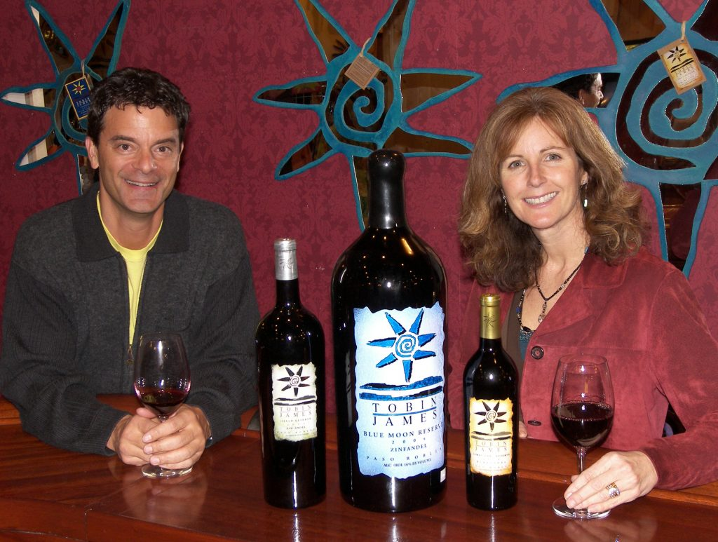 Lance and Claire Silver, co-owners of Tobin James Cellars