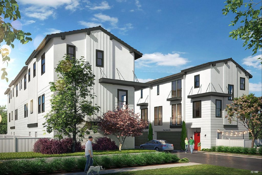 An artist's rendering of the Santa Ana Avenue Cottages. — Photo courtesy city of Newport Beach ©