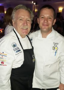 Chef Pascal Olhats (Cafe Jardin and Pascal) with Chef Pascal Gimenez (Café Beau Soleil in Fashion Island)