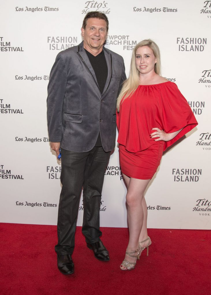 Newport Beach Independent editor Christopher Trela and columnist Catherine Del Casale / photo by Charles Weinberg
