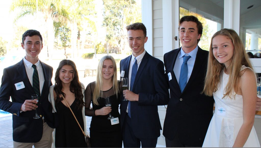 (left to right) Jake Marlo, Isabelle Deckey, Kate Briggs, Jake Elisius, Jake Bashore, and Stephanie Beder at the Etiquette Dinner. — Photo by Nina Elisius and Lisa Morsey ©