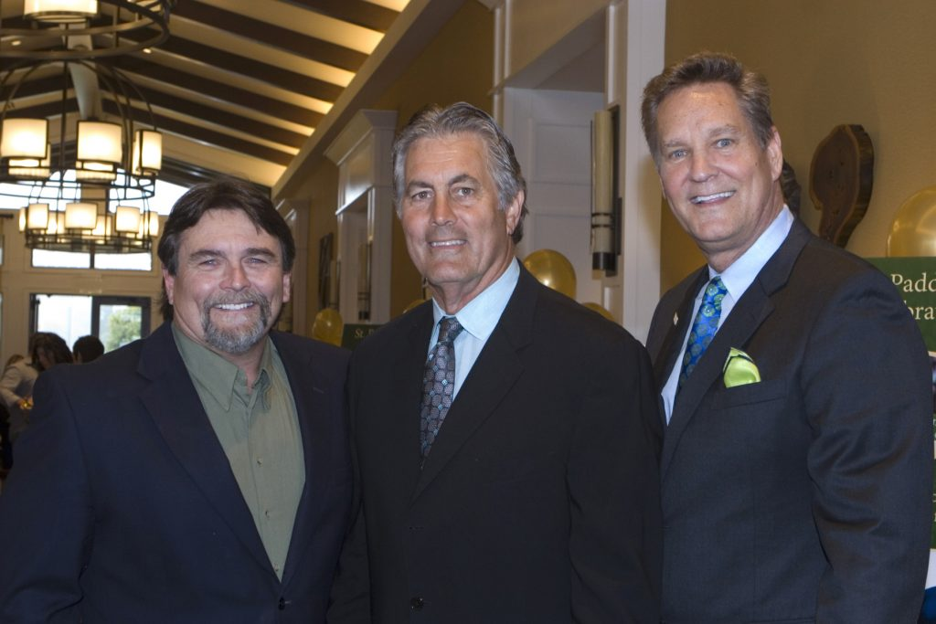Richard Dutch, Honorary Chair and former LA Rams great Vince Ferragamo, Olive Crest Director of Development Tim Bauer