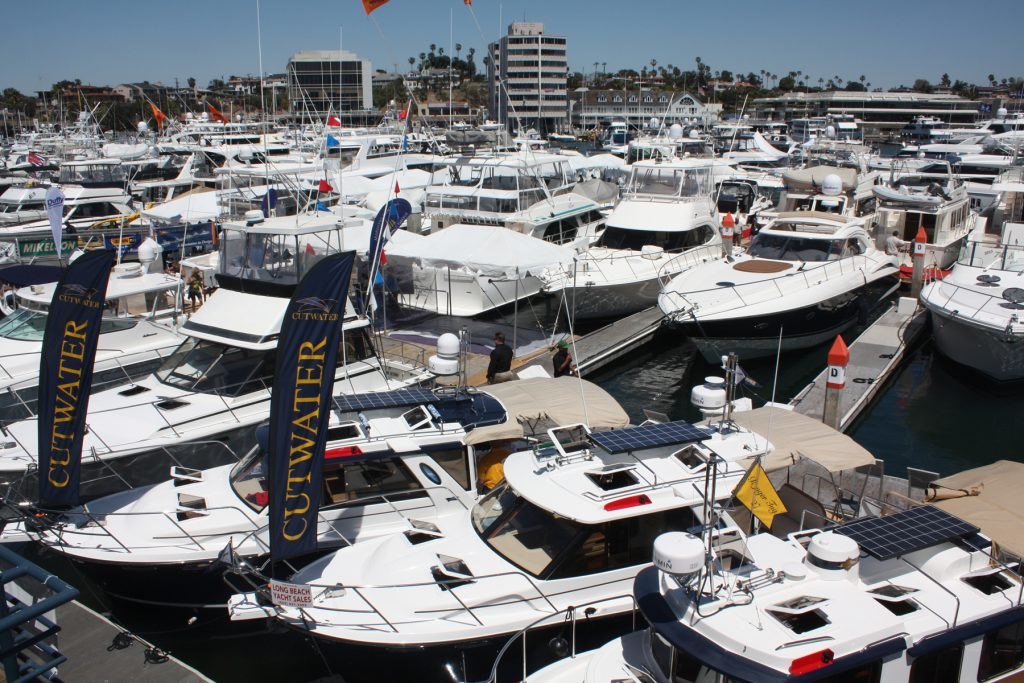 The 44th annual Newport Boat Show docked at Lido Marina Village on Thursday and will run through Sunday. — Photo by Christopher Trela ©