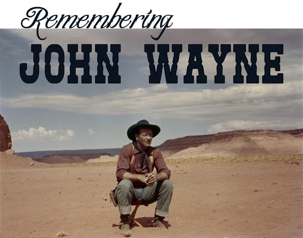 John Wayne on a movie set. — Photo by John R. Hamilton/courtesy John Wayne Enterprises ©