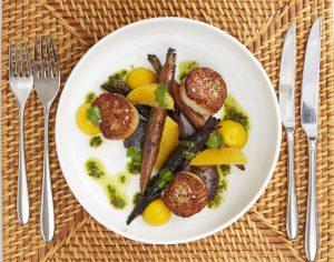 Fig & Olive scallops