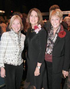 2016 Outstanding Philanthropist Sandra Jackson (center) with 2013 Outstanding Philanthropist Victoria Collins of Newport Beach (left) and Balboa Island resident Shirley Pepys (right)