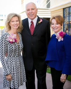 Honorary Chair and 2015 Legacy Award honoree Sandy Segerstrom Daniels of Newport Beach (left) with 2016 Legacy Award honorees Tom and Elizabeth Tierney