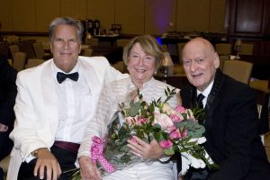 Bruce Cook, hostess Carole Pickup and Jerry Mandel
