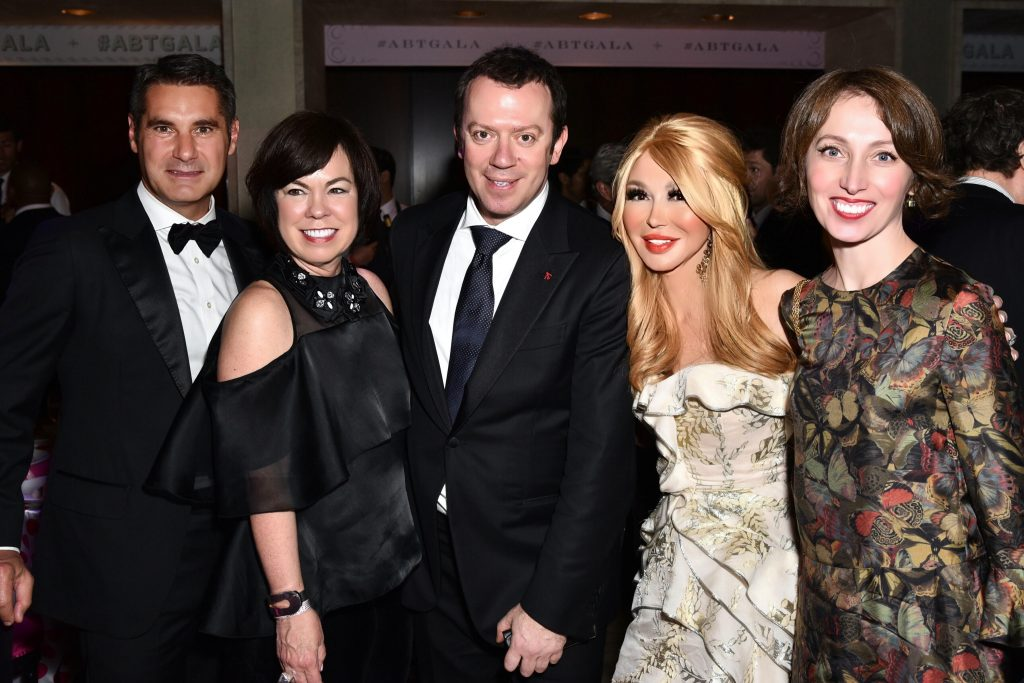 Hugues De Pins (vice president of Cartier), Debra Gunn Downing of South Coast Plaza, Choreographer Alexei Ratmansky, Elizabeth Segerstrom, Tatiana Ratmansky