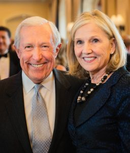 Chair of Saddleback Memorial Medical Center Board of Directors Tom Rogers and Sally Anderson of Newport Beach, Bronze Sponsors