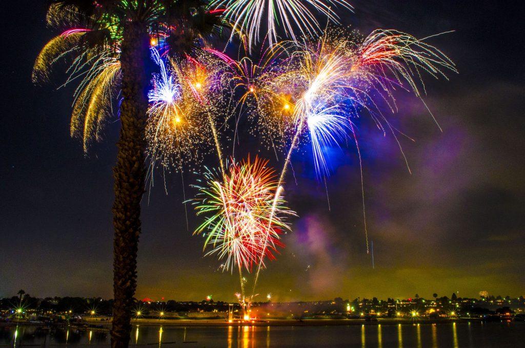 Fireworks Show At Newport Beach Dunes
