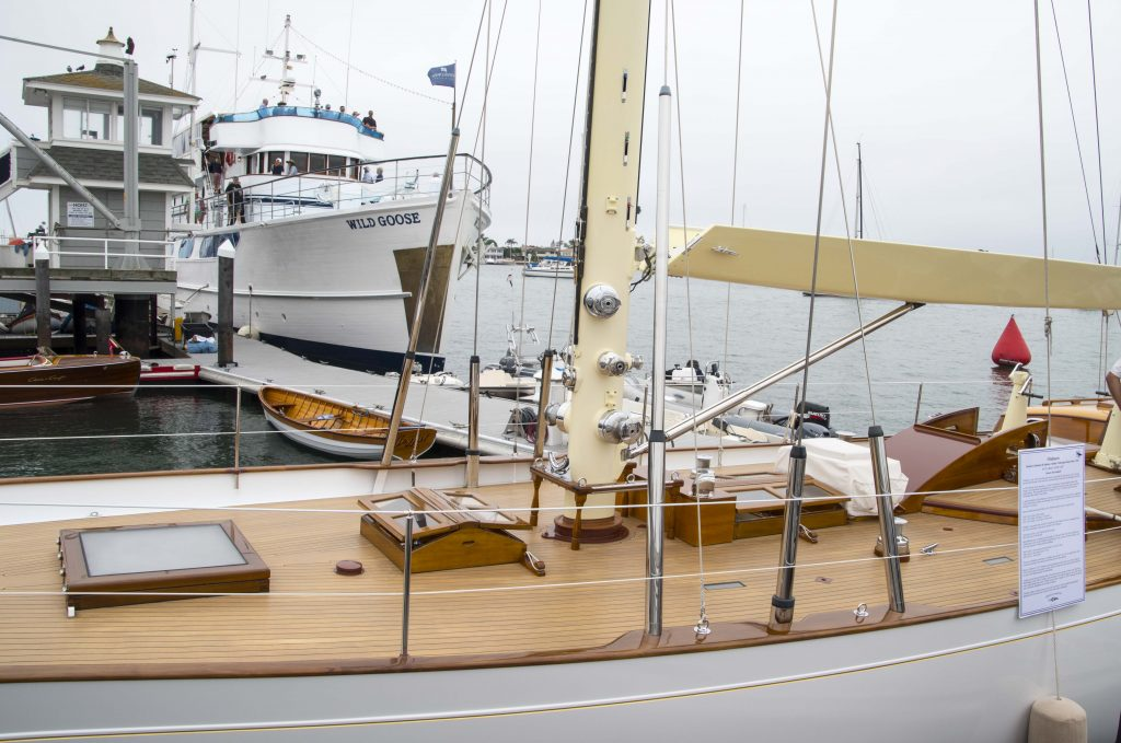 A boat on display at a previous Newport Beach Wooden Boat Festival. — NB Indy staff photo ©