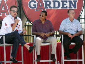 Angels baseball legends Chuck Finley, Rod Carew and Clyde Wright