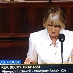 Becky Tirabassi, Newport Beach pastor