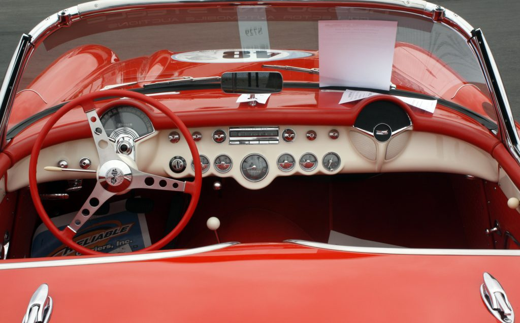 Details of the interior of one car up on the auction block this weekend. — Photo by Christopher Trela ©