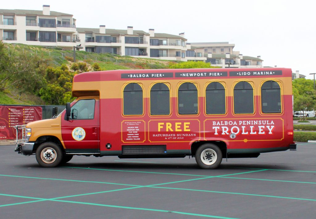 The Balboa Peninsula Trolley. — Photo courtesy city of Newport Beach ©