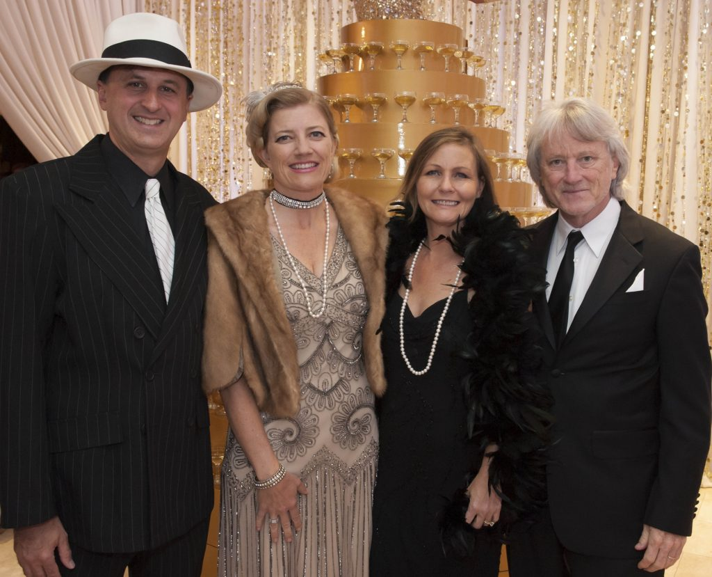 John Forsyte, President of the Pacific Symphony, Michele Forsyte, Susan St. Clair and Carl St. Clair, Music Director of the Pacific Symphony. / photo by Joshua Sudock Photography