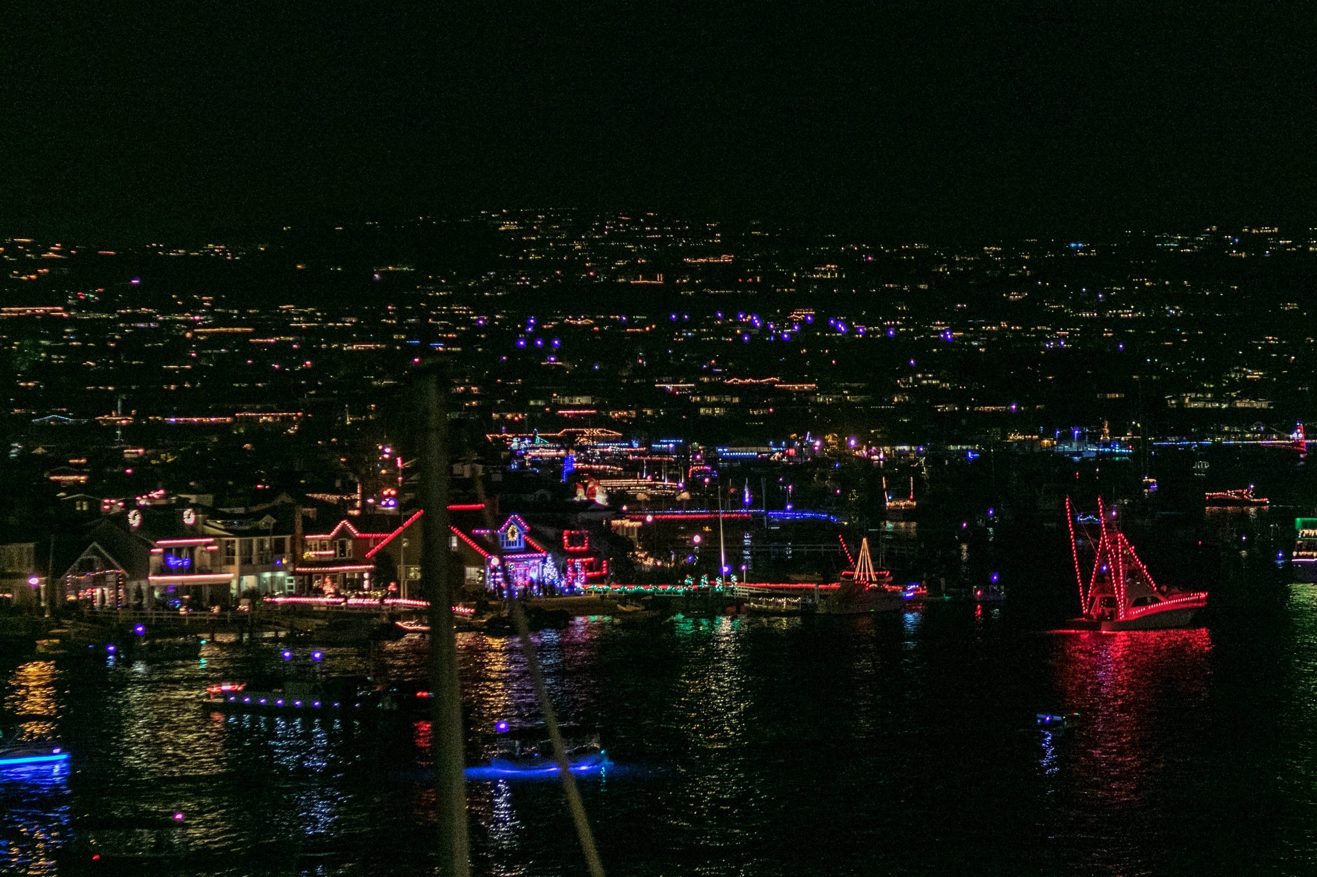 The 109th Newport Beach Christmas Boat Parade Sailed Into Its First Of Five Nights On Wednesday Photo By Jim Collins