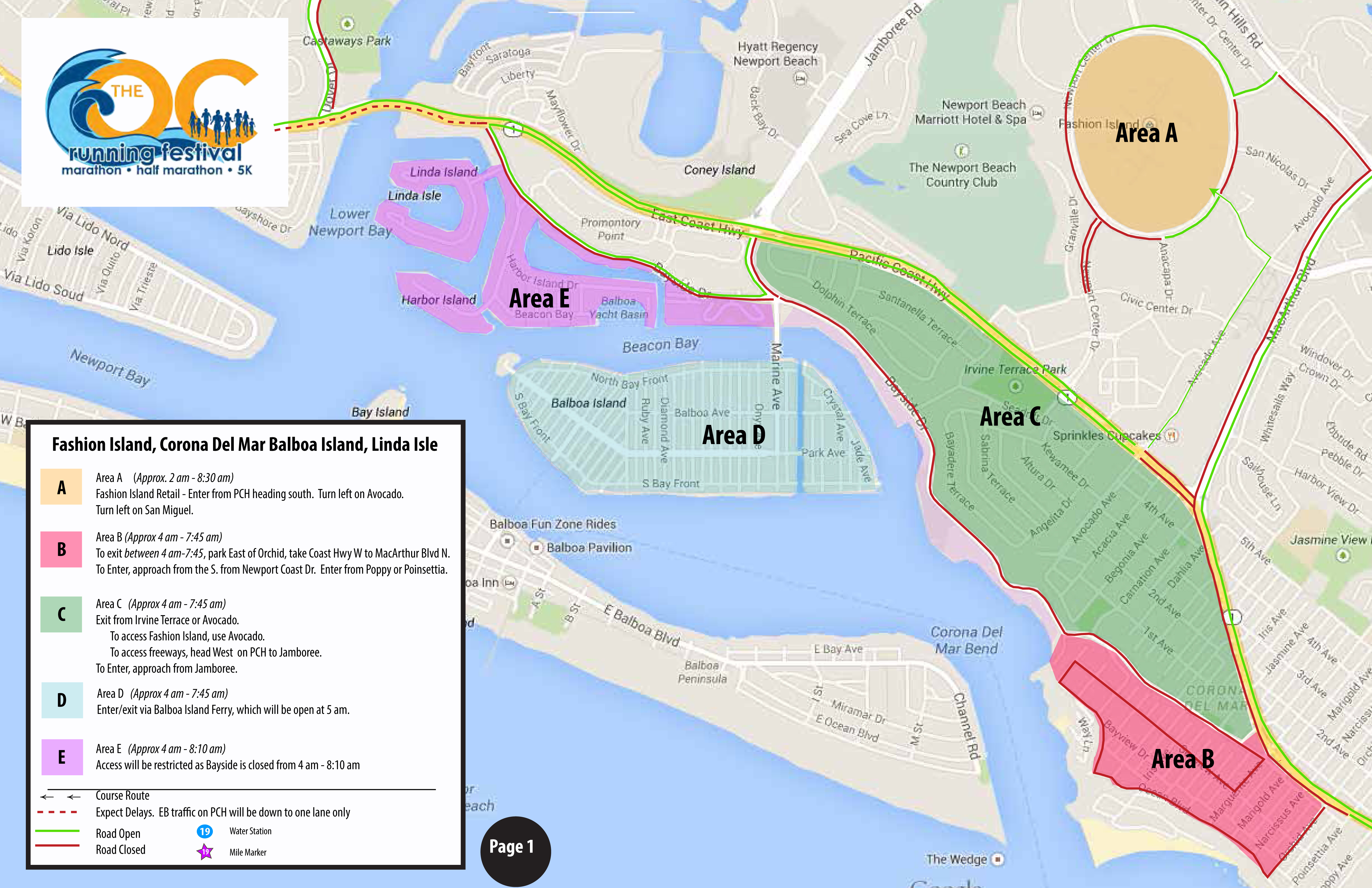 OC Marathon Road Closures - Newport Beach News on